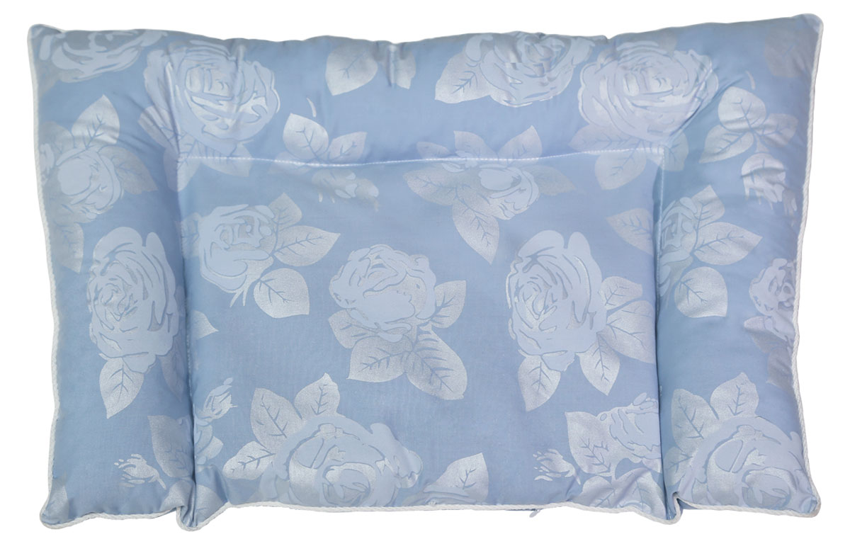 Bio-Textiles Подушка детская Малышка наполнитель лузга гречихи цвет голубой 40 х 60 см M032