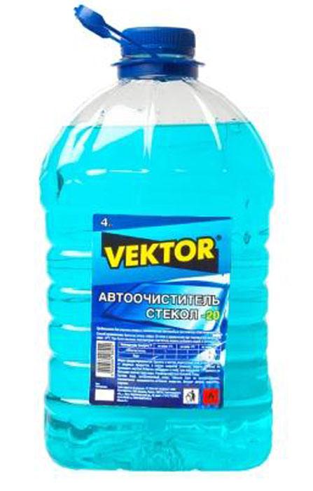 Автоочиститель стекол Вектор, - 20°С, цвет: бирюзовый, 4 л бижутерия вектор