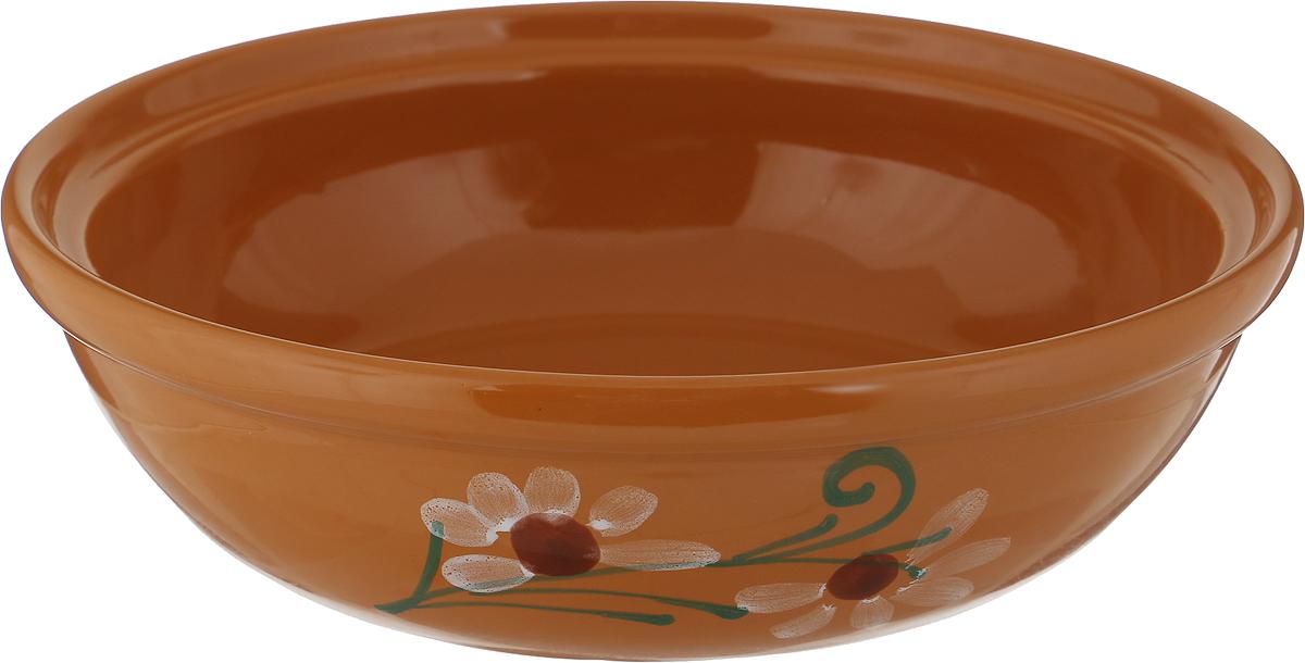 Фото - Салатник Борисовская керамика Модерн, цвет: светло-коричневый, 1 л салатник борисовская керамика модерн цвет зеленый коричневый 500 мл