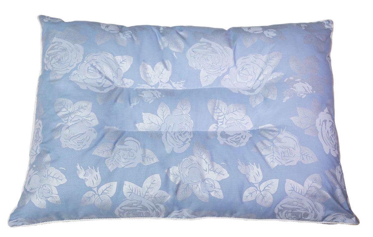 Подушка ортопедическая Bio-Textiles Магия природы, наполнитель: лузга гречихи, цвет: голубой, 50 х 70 см. AM339