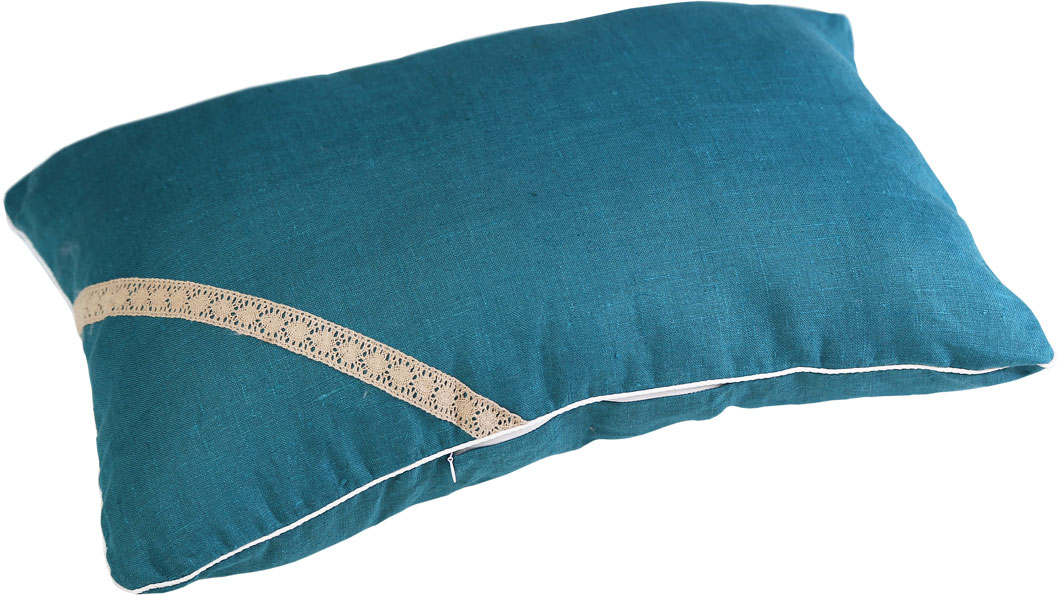 Подушка Bio-Textiles Кедровая магия, наполнитель: кедр, цвет: бирюзовый, 40 х 60 см