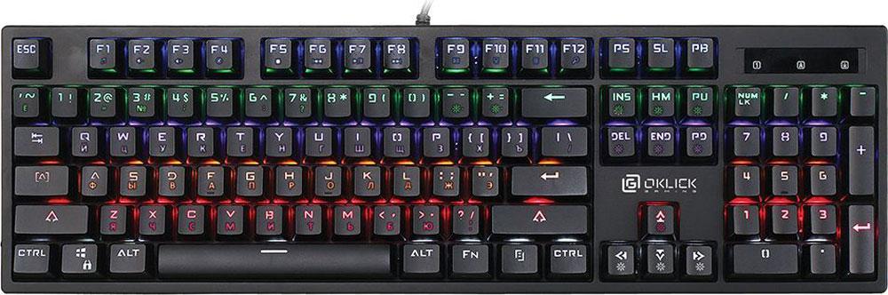 лучшая цена Oklick Vortex 940G, Black игровая клавиатура