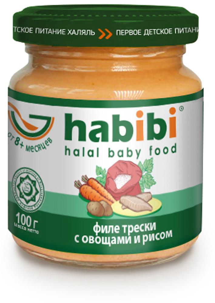 Habibi Пюре Филе трески с овощами и рисом, 6 шт х 100 г стив бланк боб дорф стартап настольная книга основателя