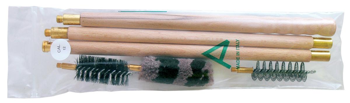 Набор для чистки гладкоствольного оружия Nimar, калибр 12, 4 предмета 100.1012