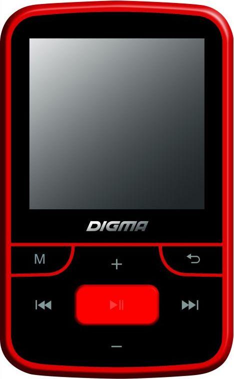 MP3 плеер Digma T3 8Gb, Black Red mp3 плеер для компьютера