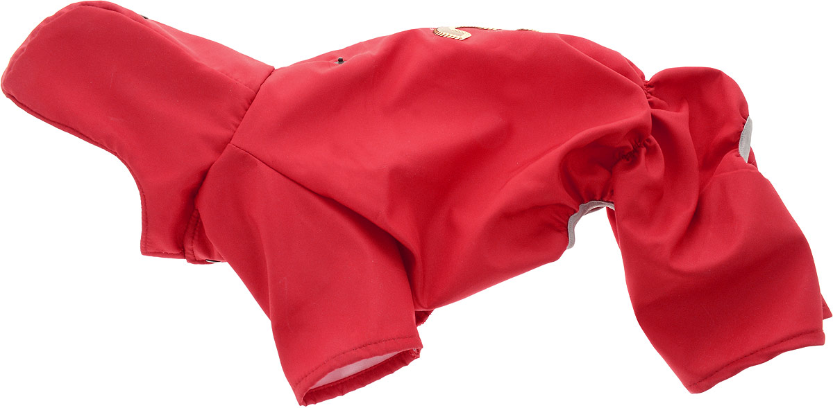 Дождевик прогулочный для собак GLG, цвет: красный. Размер L комбинезон для собак йорк той чихуа шпиц мальтезе и др северное сияние лаванда