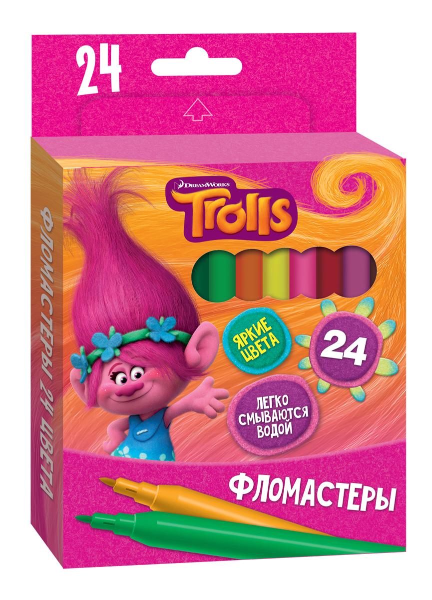 Trolls Набор фломастеров Trolls 24 шт фигурки героев мультфильмов trolls коллекционная фигурка trolls в закрытой упаковке 10 см в ассортименте