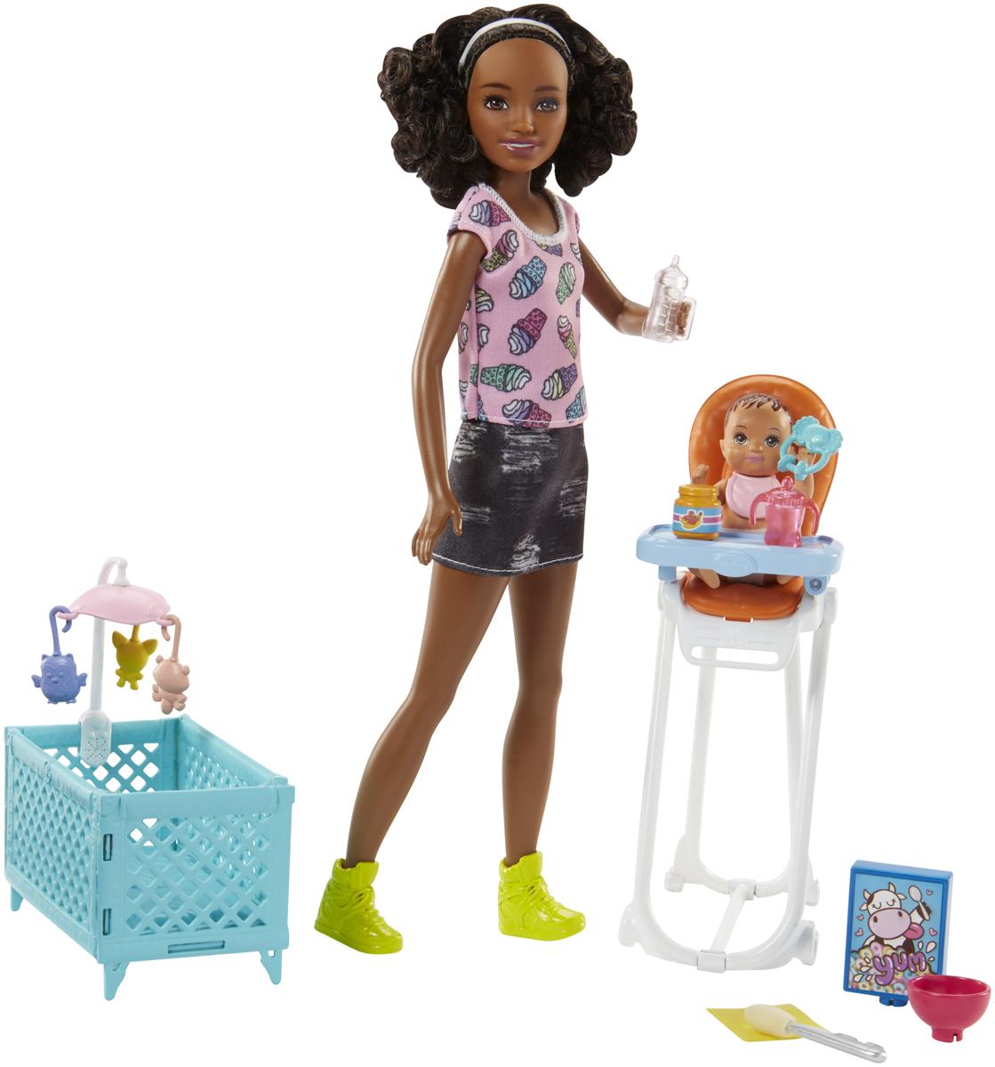 Barbie Игровой набор с куклой Няня