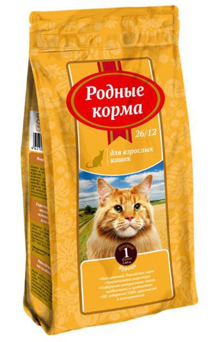 """Корм сухой """"Родные Корма"""", для взрослых кошек, курица, 409 г"""