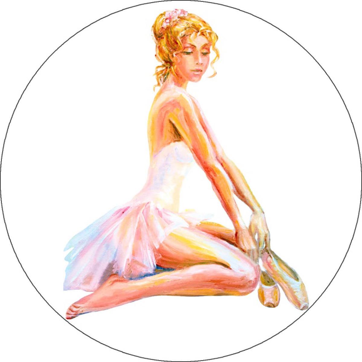 """Набор для вышивания крестиком Цветной """"Сидящая балерина"""", 21 х 21 см"""