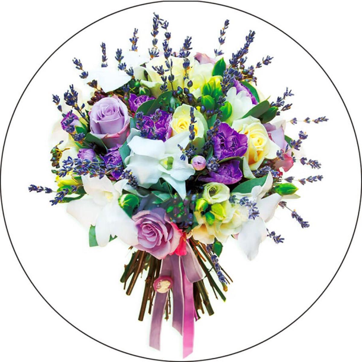 Набор для вышивания крестиком Цветной Букет с розами, 28 х 28 см чернила cactus cs i cl441m magenta 100ml для canon pixma mg2140 mg3140