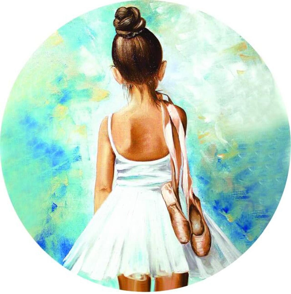 """Набор для вышивания крестиком Цветной """"Маленькая балерина"""", 21 х 21 см"""