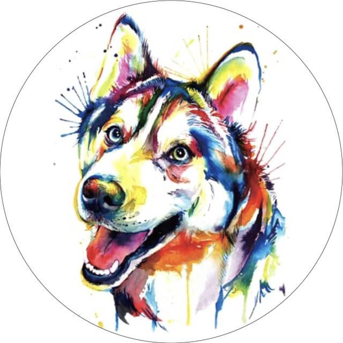 Набор для вышивания крестиком Цветной Разноцветный щенок, 28 х 28 см канва с рисунком для вышивания орхидеи 28 х 34 см 1316