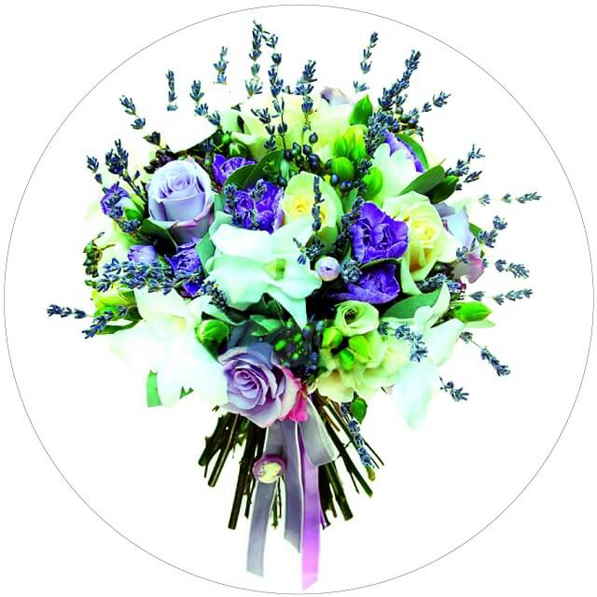 Набор для вышивания крестиком Цветной Букет с розами, 28 х 28 см канва с рисунком для вышивания орхидеи 28 х 34 см 1316