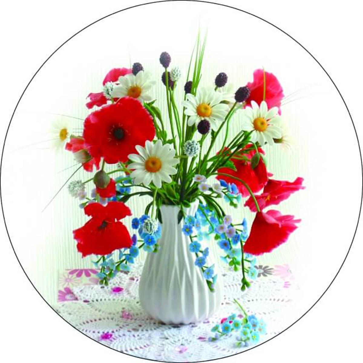 Набор для вышивания крестиком Цветной Букет с маками, 28 х 28 см канва с рисунком для вышивания орхидеи 28 х 34 см 1316