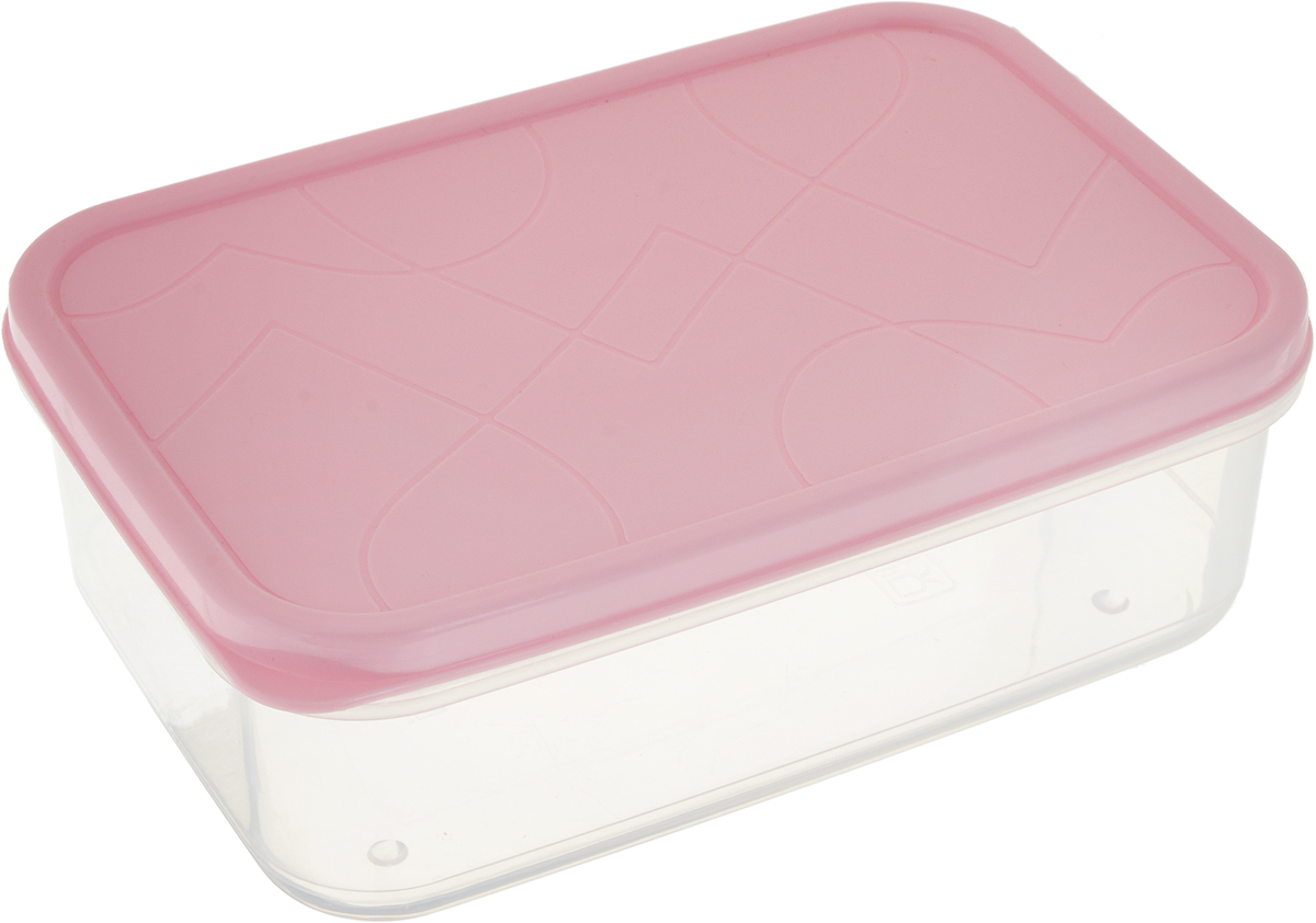 """Контейнер для продуктов Giaretti """"Vitamino"""", прямоугольный, цвет: розовый, 500 мл"""