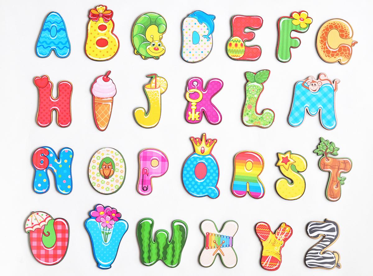 Фабрика Мастер игрушек Обучающая игра Магнитный алфавит Веселый Английский веселый алфавит