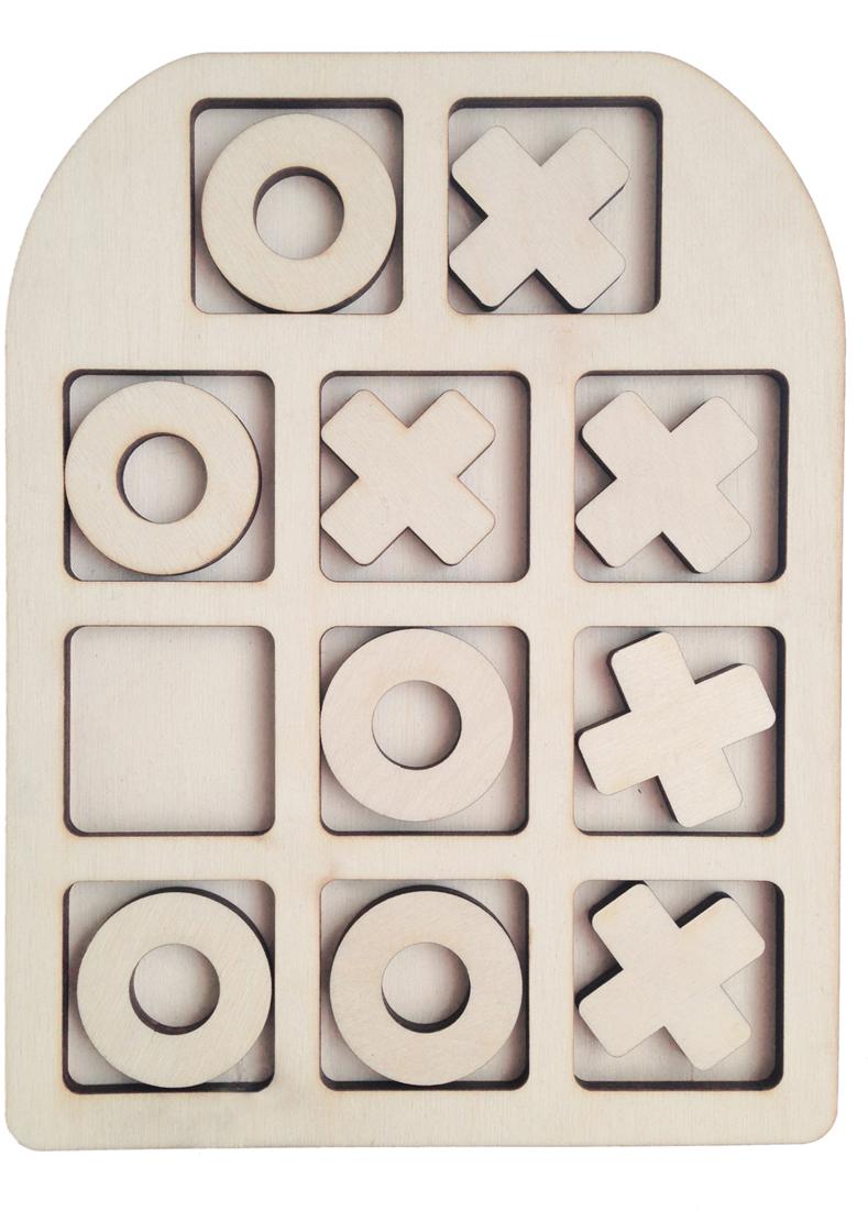 Фабрика Мастер игрушек Рамка-вкладыш Крестик-нолики Классические цена