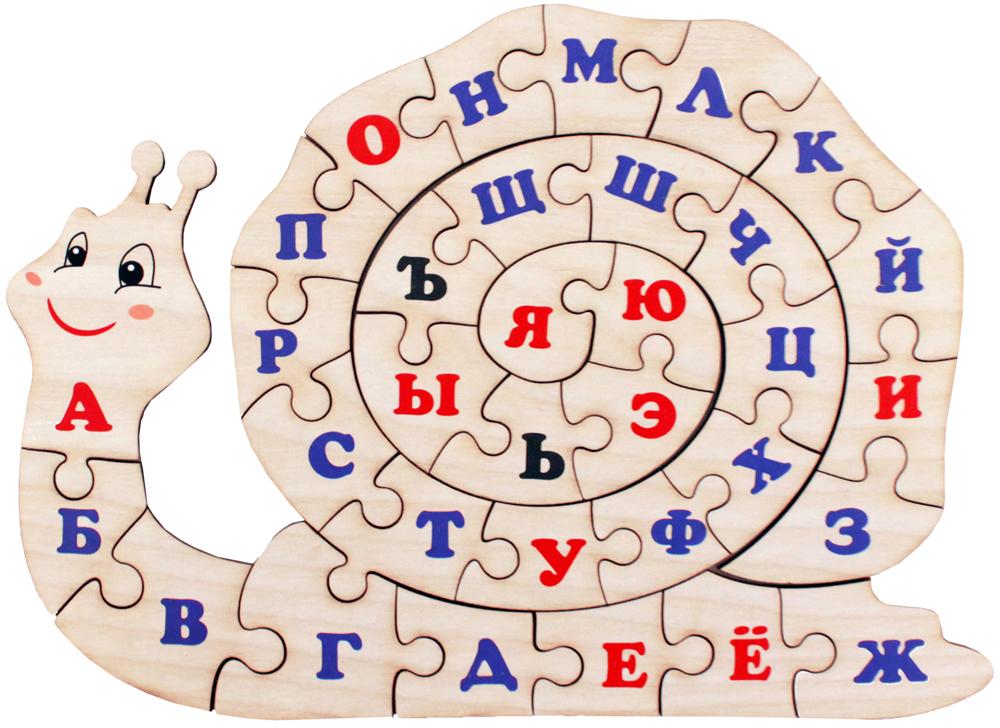 Фабрика Мастер игрушек Пазл для малышей Алфавит русский Улитка мастер игрушек пазл лев 6 элементов ig0066