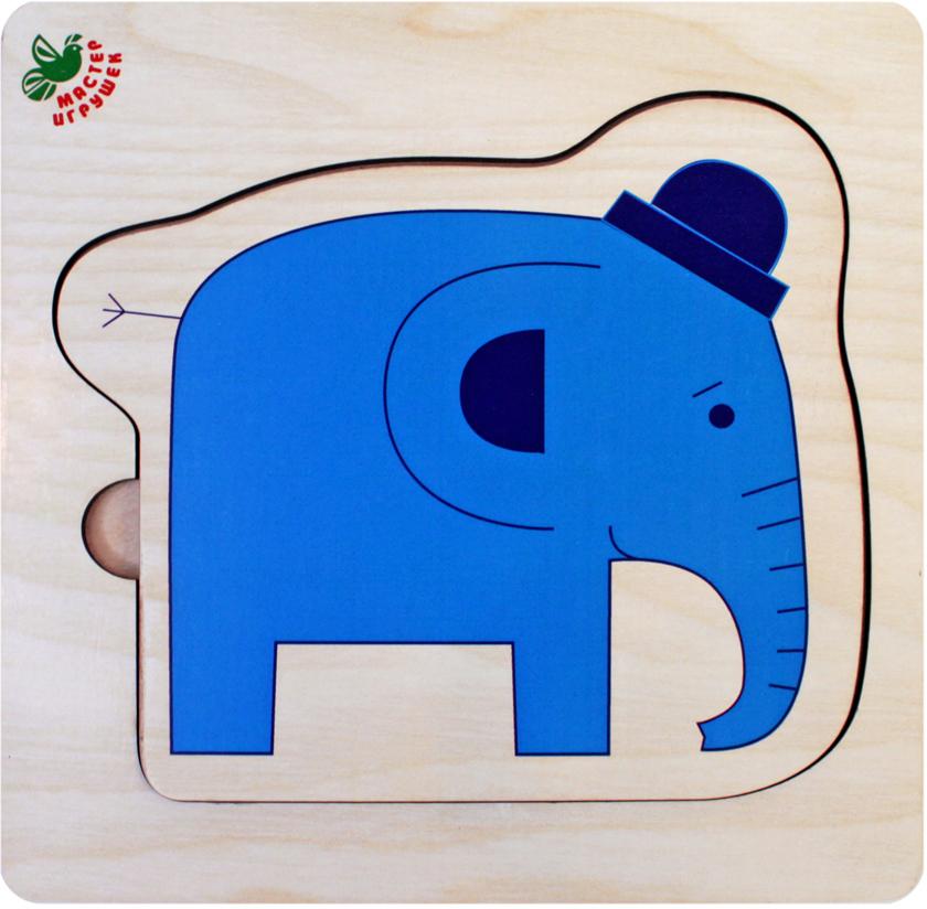Фабрика Мастер игрушек Рамка-вкладыш Слоники цена