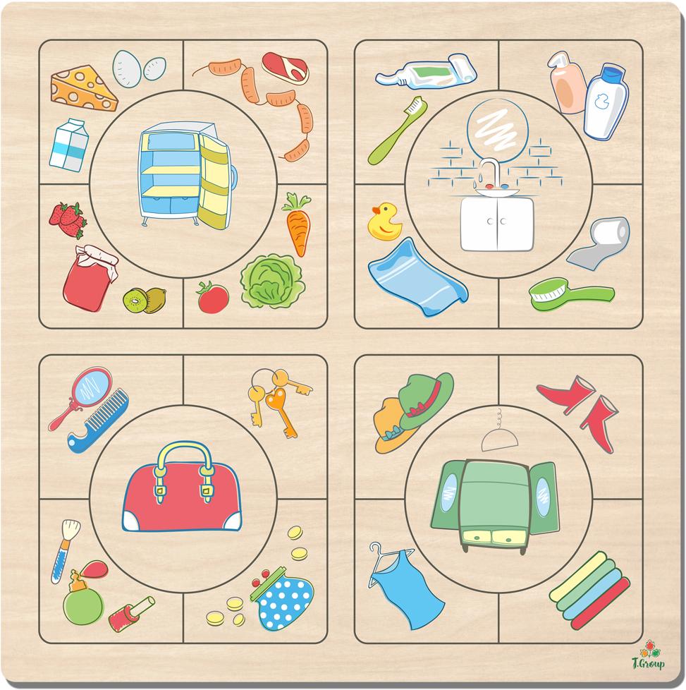 цены на Фабрика Мастер игрушек Пазл для малышей Наведи порядок  в интернет-магазинах