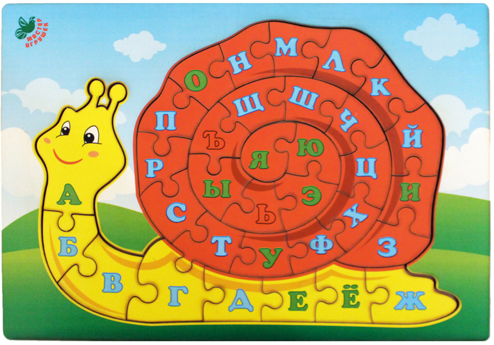Фабрика Мастер игрушек Пазл для малышей Улитка мастер игрушек пазл лев 6 элементов ig0066
