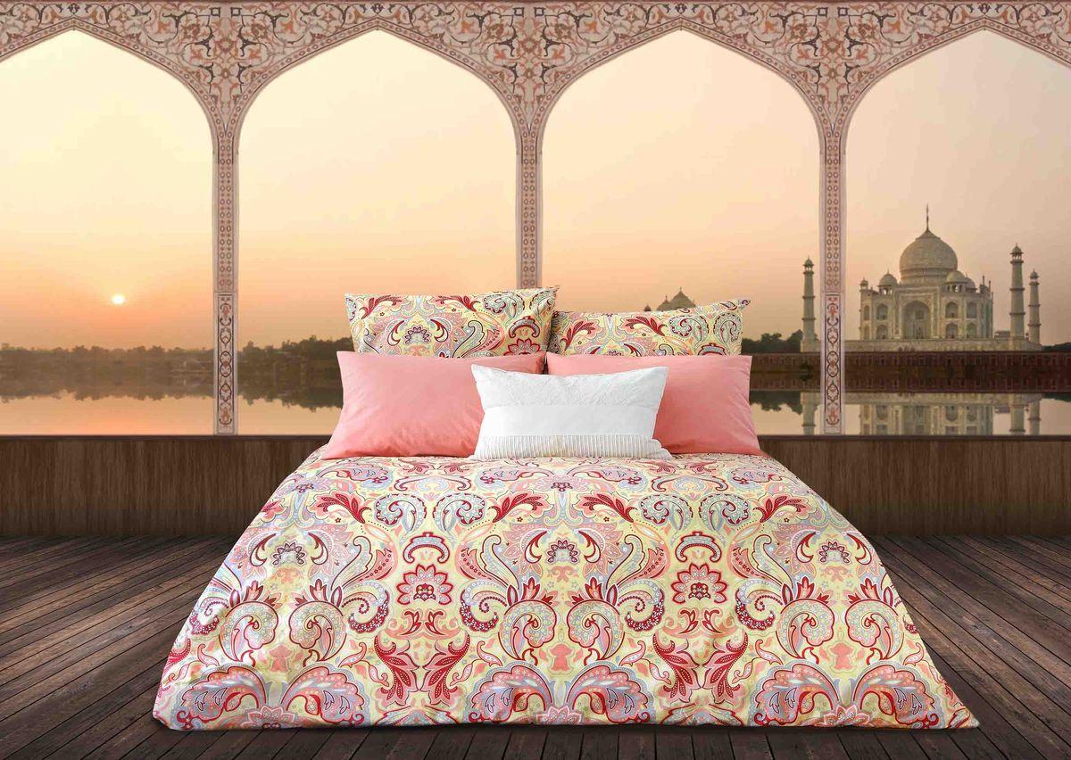 Комплект белья Sova & Javoronok Жемчужина Индии, 2-спальный, наволочки 50х70, цвет: коралловый бакинская жемчужина