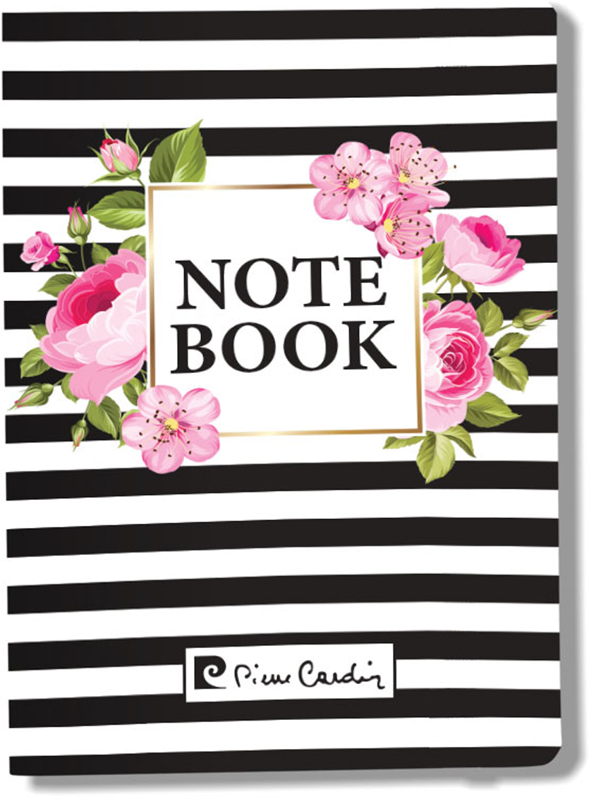 Pierre Cardin Блокнот Vein 80 листов в клетку цвет белый розовый черный формат A6 pierre cardin еженедельник north недатированный 80 листов на резинке цвет светло серый формат a5