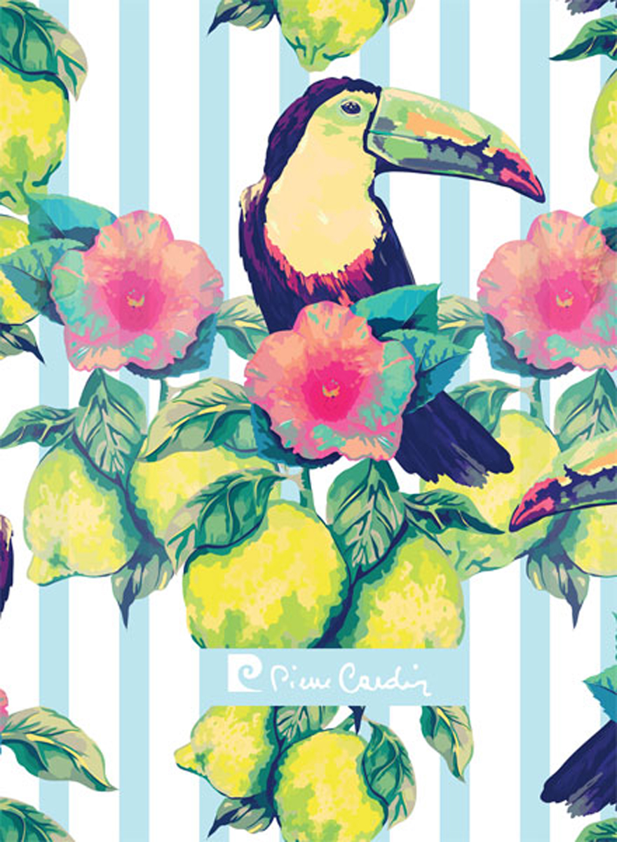 Pierre Cardin Блокнот Tropic Exotic 80 листов в клетку цвет разноцветный формат A6 блокнот attache fantasy a6 80 листов orange 309371