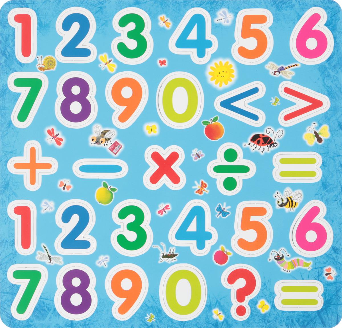Магнитные цифры (Еврослот + методичка) буквы и цифры мастер игрушек магнитные цифры цифры ig0080