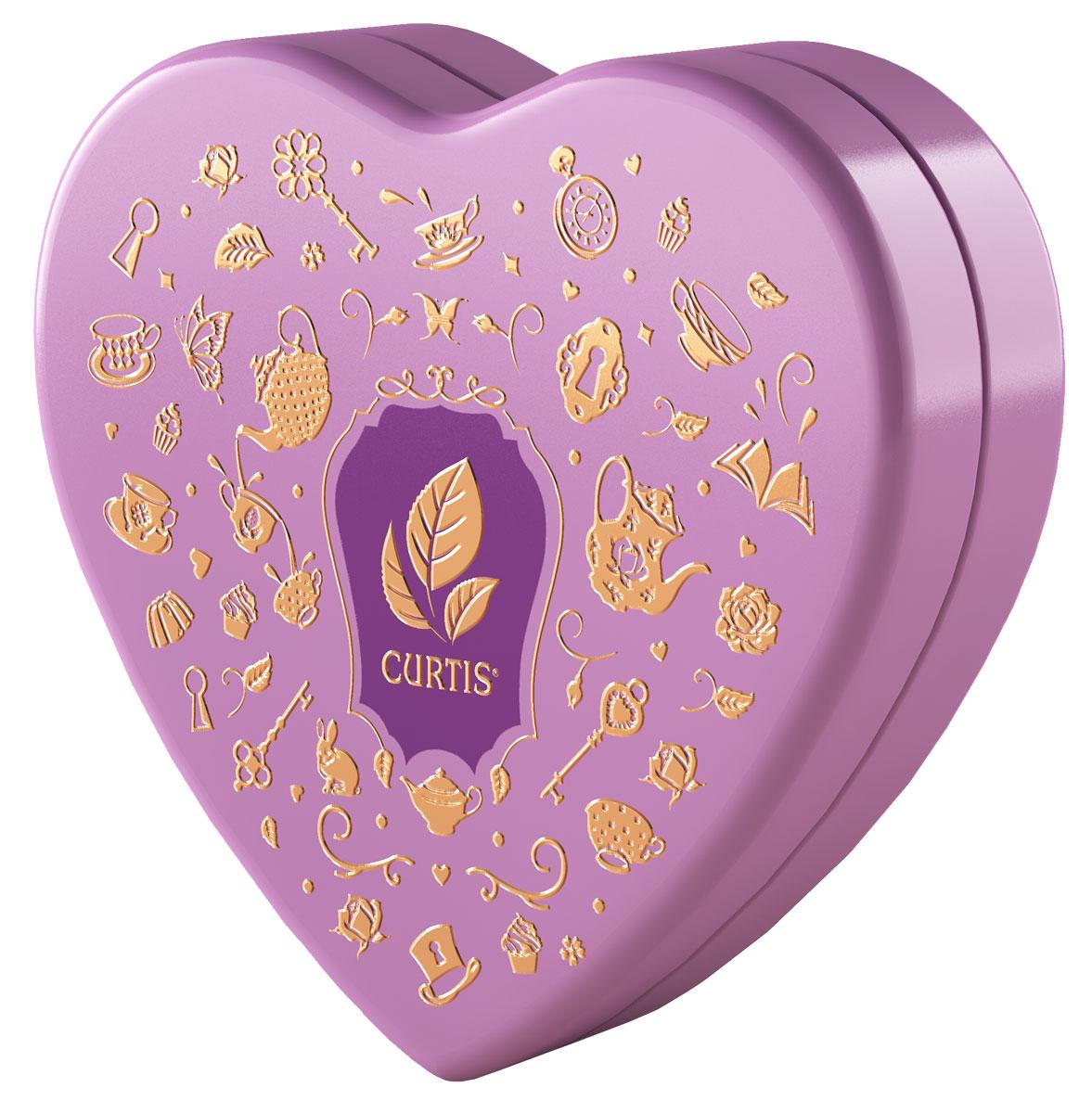 Curtis Wonderland Collection Sweet Heart чай черный ароматизированный, цвет коробки сиреневый, 40 г цена 2017