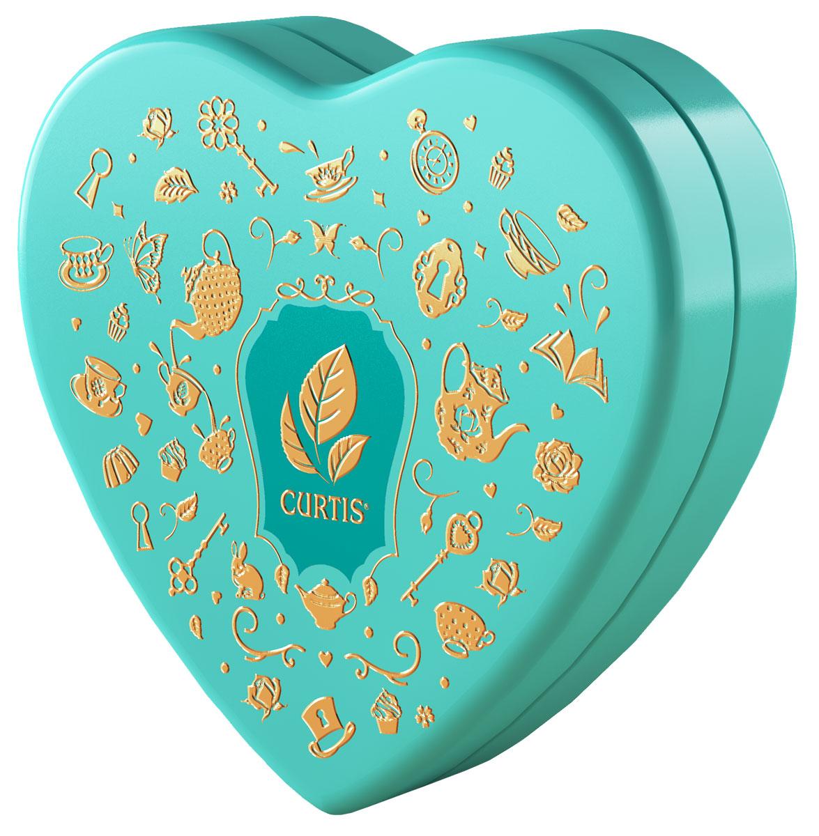 Curtis Wonderland Collection Sweet Heart чай черный ароматизированный, цвет коробки бирюзовый, 40 г цена 2017