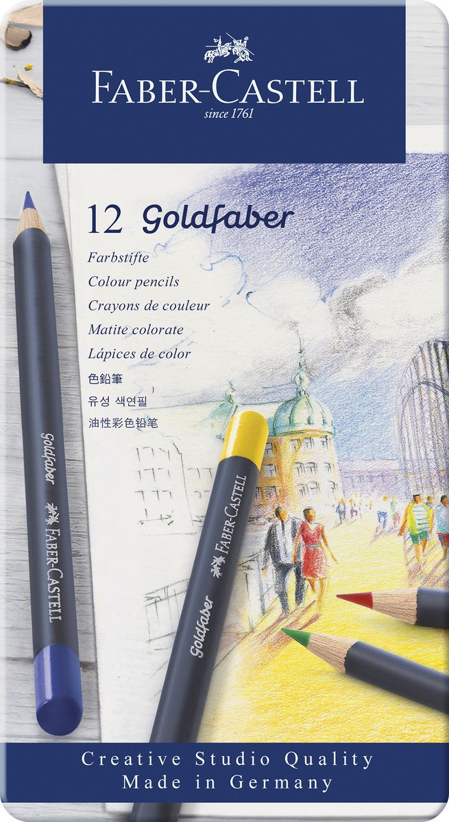 Faber-Castell Набор цветных карандашей Goldfaber 12 цветов