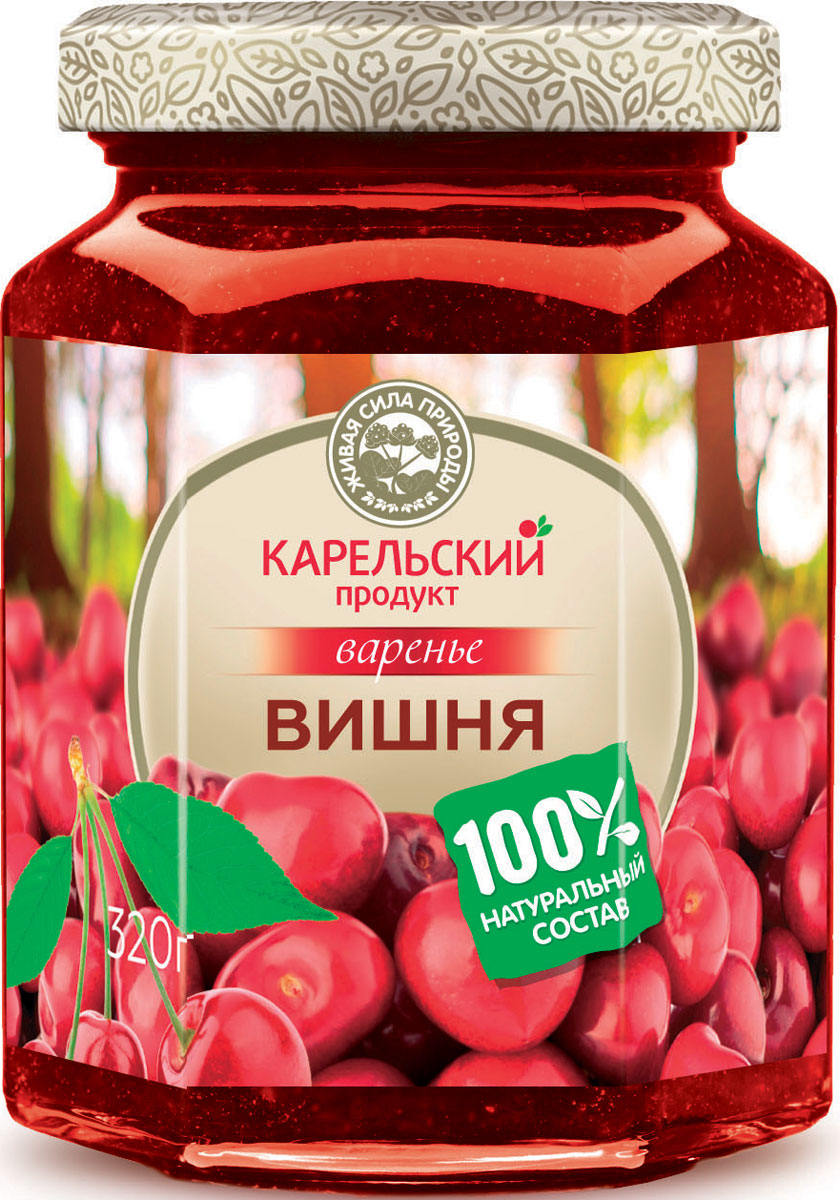 Карельский продукт Варенье из вишни, 320 г цена 2017