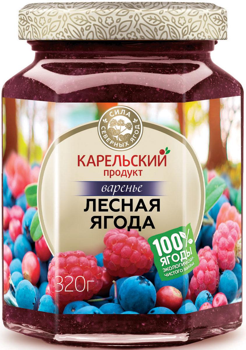 Карельский продукт Варенье из лесных ягод, 320 г карельский продукт варенье из морошки и облепихи 320 г