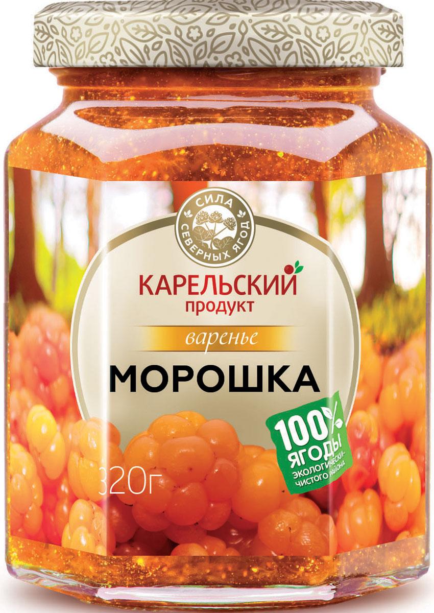 Карельский продукт Варенье из морошки, 320 г карельский продукт варенье из морошки и облепихи 320 г