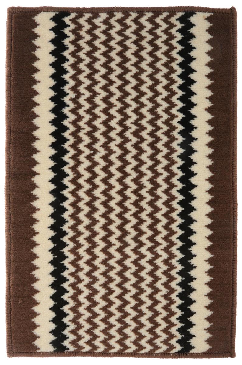 """Коврик для ванной Vortex """"Berlin"""", цвет: коричневый, белый, черный, 38 х 58 см. 21082"""