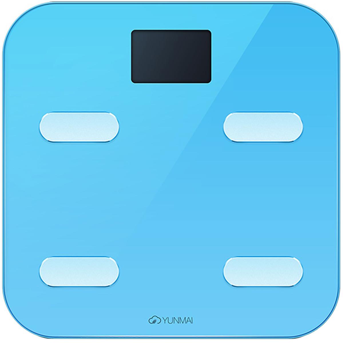 цена Напольные весы Yunmai Color, Blue онлайн в 2017 году
