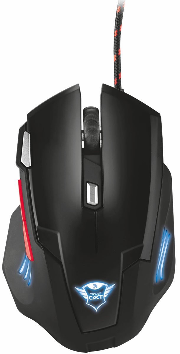 лучшая цена Игровая мышь Trust GXT 111, Black Red
