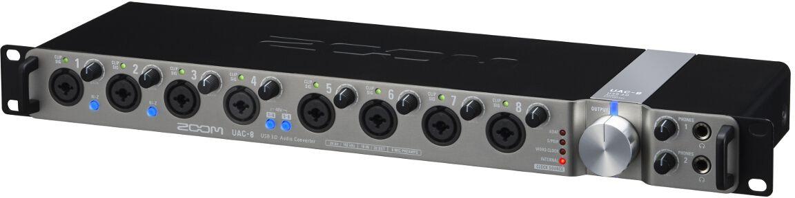 Zoom UAC-8, Black аудиоинтерфейс цифровой mikado uac e002