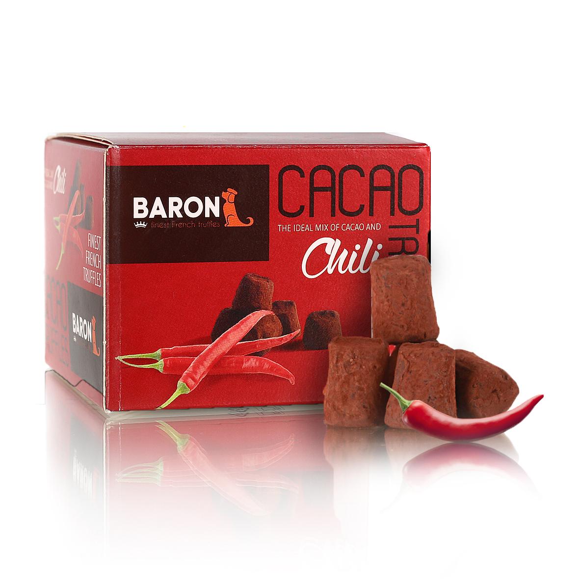 Baron Французские трюфели со вкусом чили, 100 г baron французские трюфели с кусочками малины 100 г