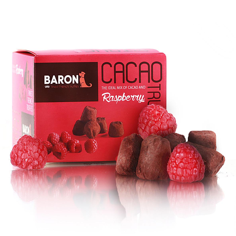 Baron Французские трюфели с кусочками малины, 100 г baron французские трюфели с кусочками малины 100 г