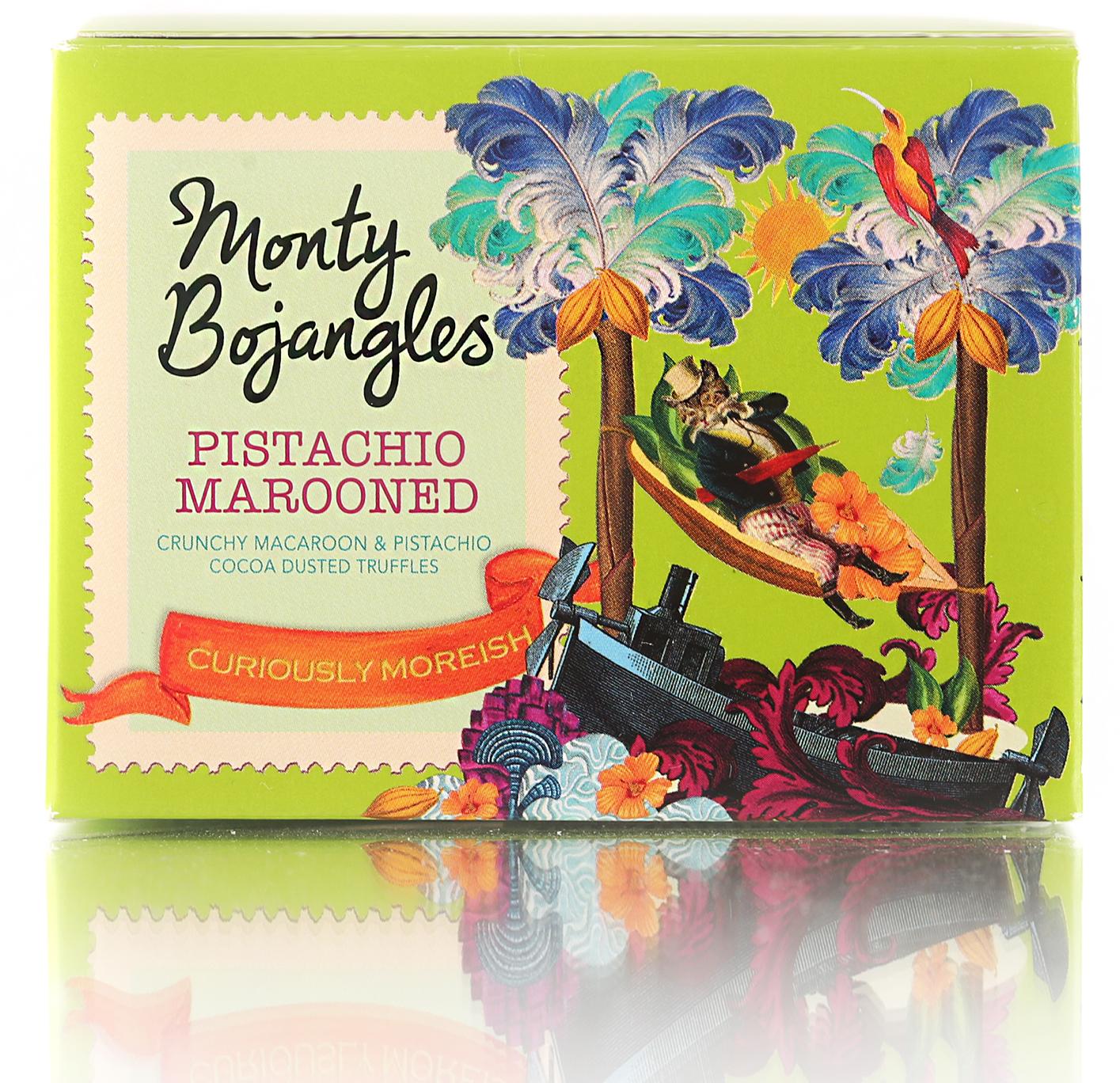 Monty Bojangles Французские трюфели с кусочками миндального печенья и фисташковым вкусом, 100 г baron французские трюфели с кусочками малины 100 г