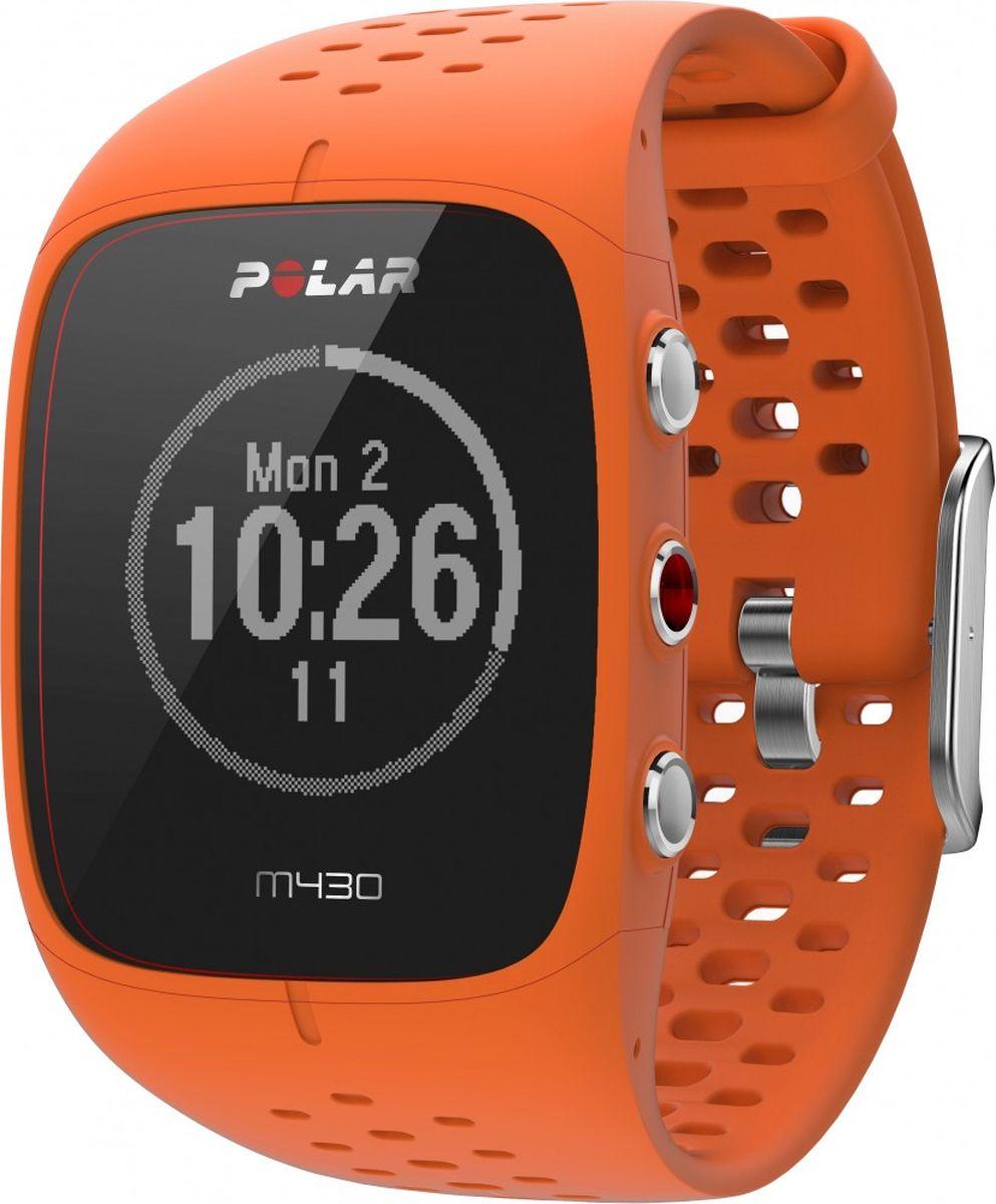 Спортивные часы Polar M430, с GPS, цвет: оранжевый