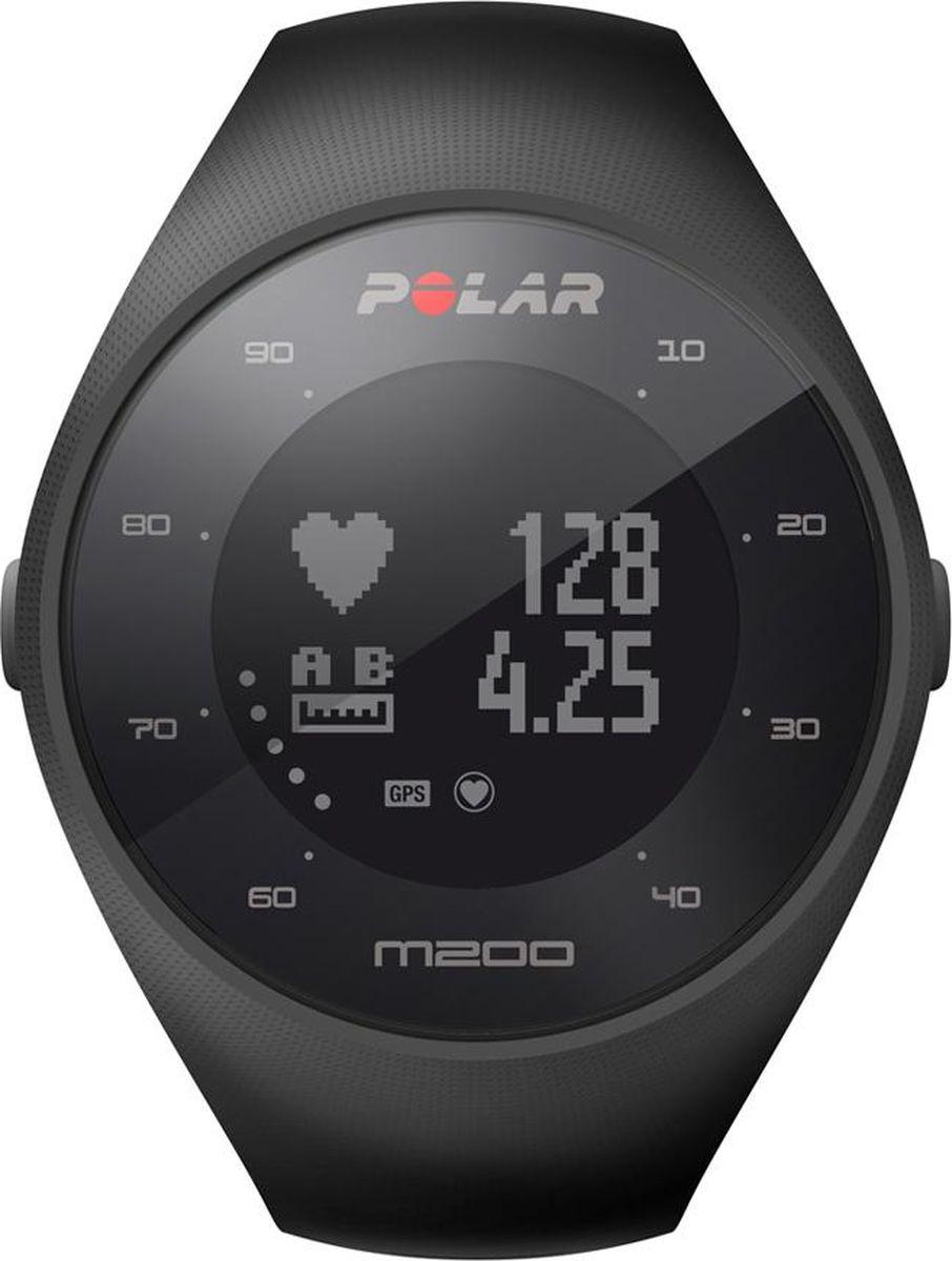 """GPS-часы для бега Polar """"M200"""", с датчиком сердечного ритма на запястье, цвет: черный. Размер M/L"""