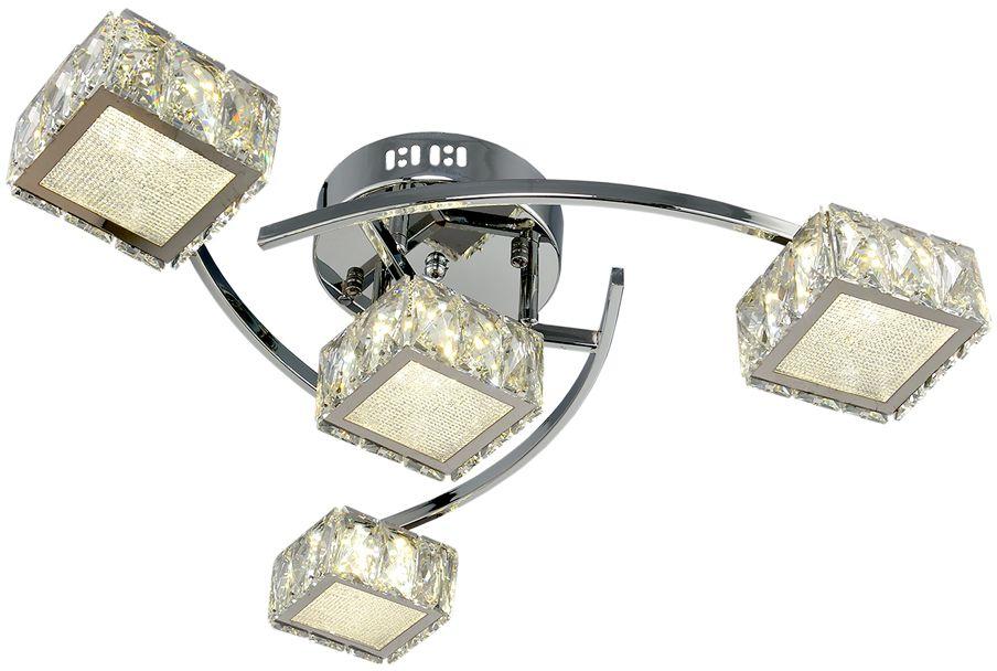 Потолочный светильник МАКСИСВЕТ 1-1696-4-CR Y LED максисвет потолочная люстра максисвет design геометрия 1 1696 4 cr y led
