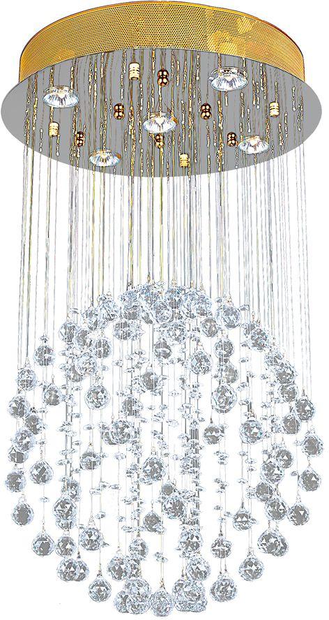 Люстра Максисвет Водопад, 5 х GU10, 50W. 1-8915-5-FG GU10 максисвет потолочная люстра максисвет design геометрия 1 1696 4 cr y led