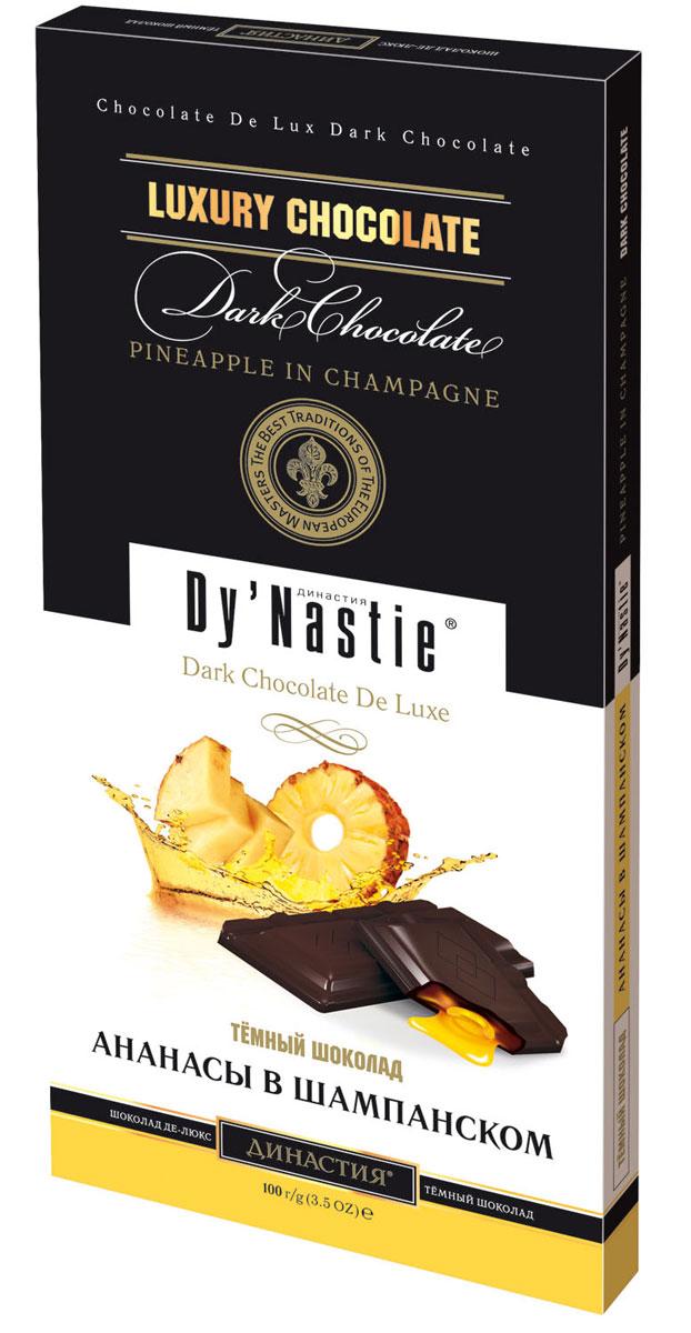 династия ананасы в шампанском шоколадные конфеты 195 г Династия Ананас в шампанском шоколад, 100 г