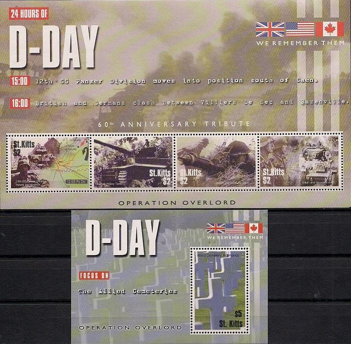 60-я годовщина операции Overlord № 4, Сент - Китс. Лист + блок overlord ранобэ аудиокнига