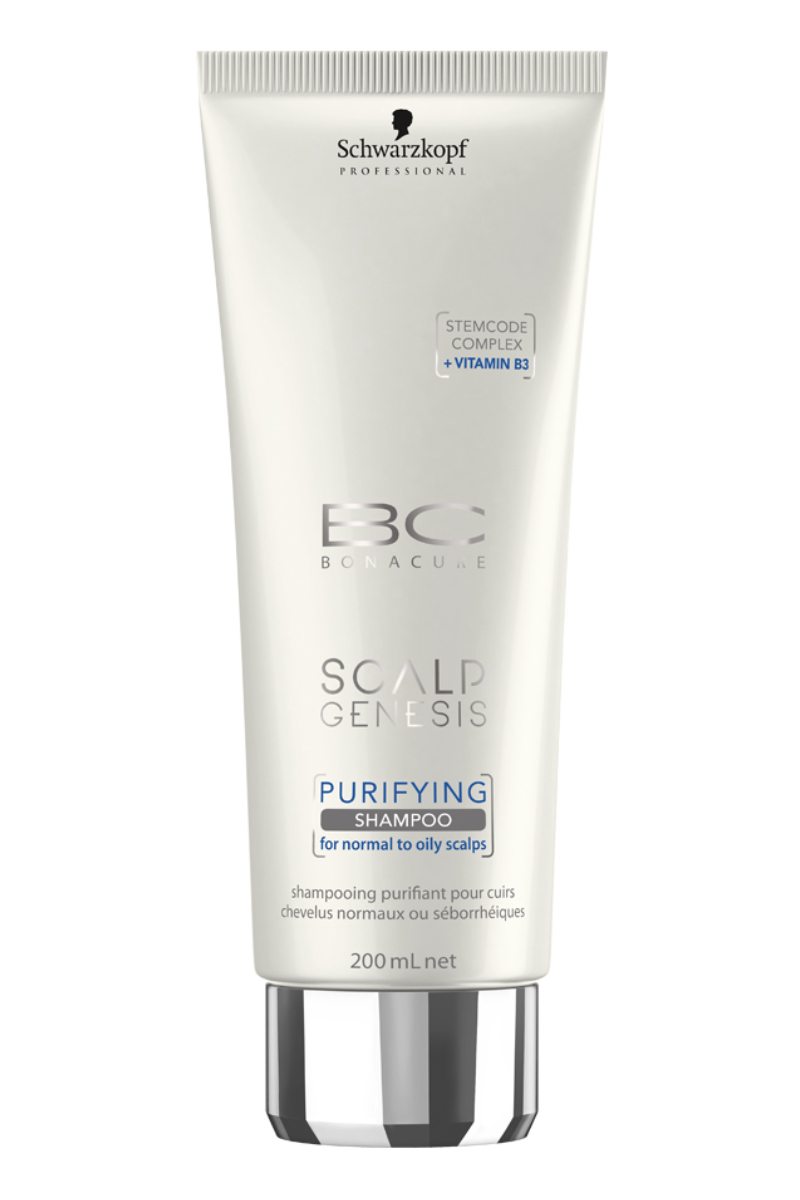 Очищающий шампунь для волос Schwarzkopf Professional Bonacure Scalp Genesis, 200 мл schwarzkopf professional бонакур блеск шампунь с розовым маслом для кожи головы и волос 200 мл